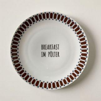 Wandteller-Breakfast